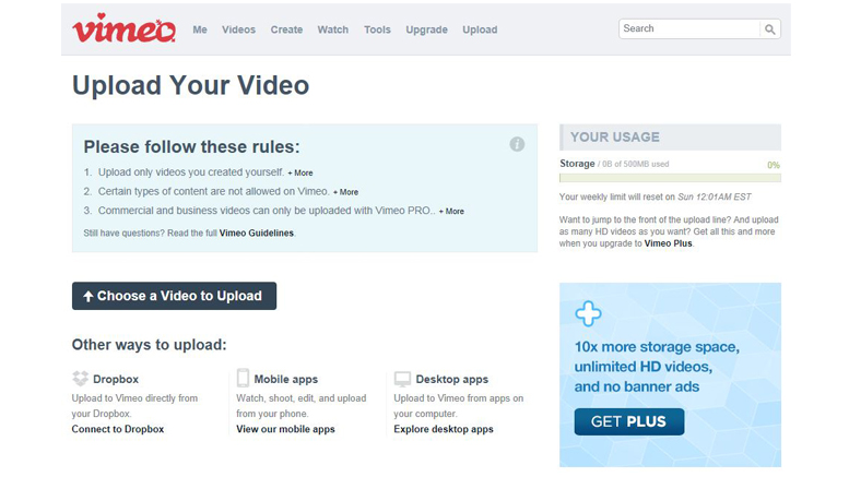 Vimeo Upload