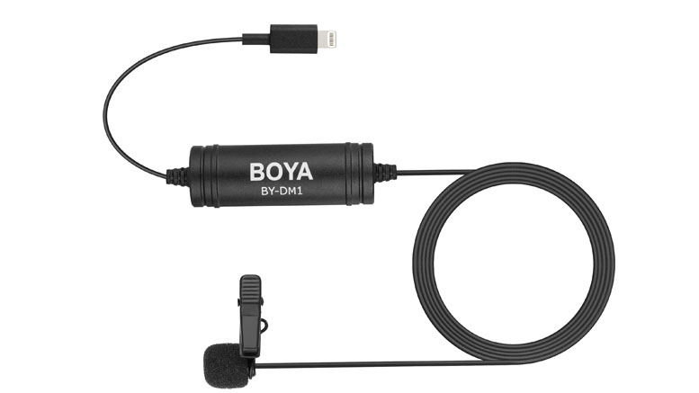 Boya DM1 Digital Lavalier Microphone with Lightning Connector for iPhone